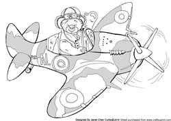 Happy Bear and Spitfire