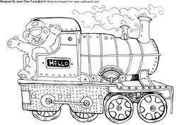 Happy Bear and Train
