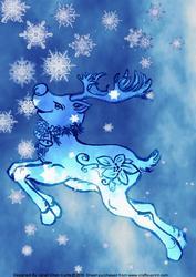 Blue Christmas- a Handsome Reindeer