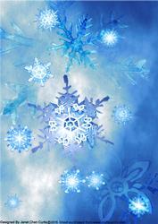 Blue Christmas- Snowflakes