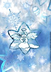 Blue Christmas-stars