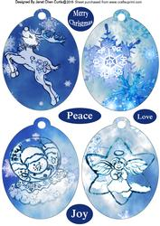 Blue Christmas Bookmarks