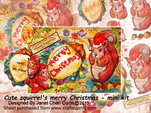 Cute Squirrel's Merry Christmas-mini Kit