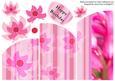 Bright Pink Flowers Cascade Card