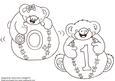 Happy Bear in Nursery-digital Stamps