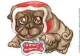 A Handsome Pug with a Santa Hat-a4