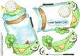 Golf Bottle-toppers&shaker Card