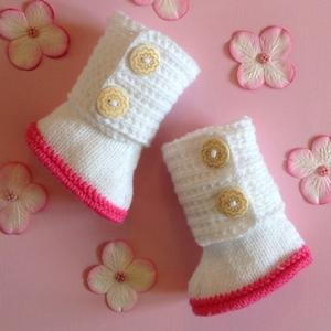 Knee Length Wrap Around Baby Boots