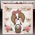 Easter Katie Mini Kit. Cute Cavalier Puppy