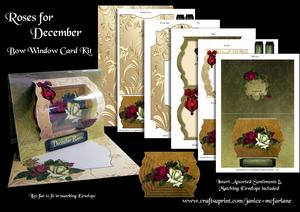 Roses for December Bow Window Card Kit
