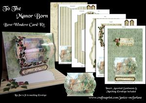 To the Manor Born Bow Window Card Kit