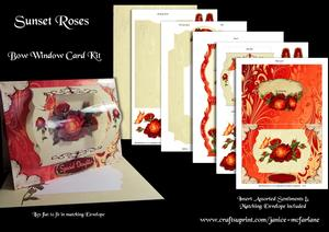 Sunset Roses Bow Window Card Kit