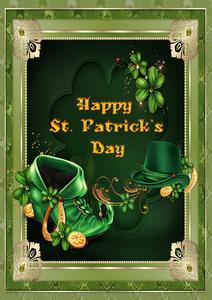 St Patrick's Card 3D Decoupage