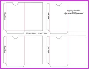 Gift or Credit Card Envelope Template
