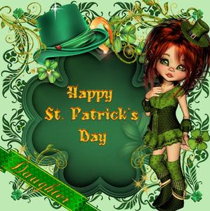 Adorable Girl St Patrick's Day Topper
