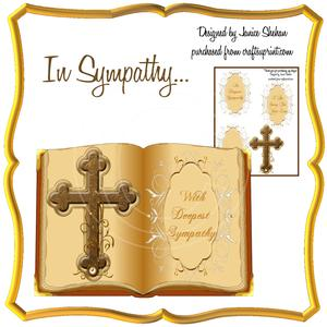 Cross & Bible Sympathy Card