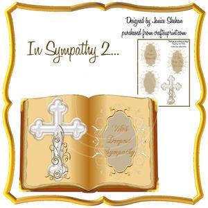 Cross & Bible Sympathy Card 2