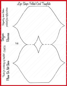 Lips Folded Card Template Png