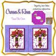 Easter Crosses & Roses Kleenex Tissue Box Cover Holder