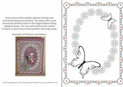 Flower and Butterfly Border Parchment Pattern