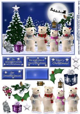 Introducing the Polar Bear Caroling Quartet!