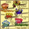6 Floral Wheelbarrows Cu4cu