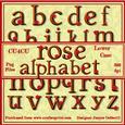 Rose Alphabet Lower Case Cu4cu