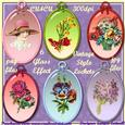 6 Vintage Style Lockets Glass Effect Cu4cu