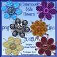 6 Steampunk Style Flowers Cu4cu