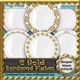6 Gold Bordered Plates Cu4cu Designer Resource