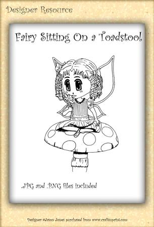 Fairy Sitting on a Toadstool