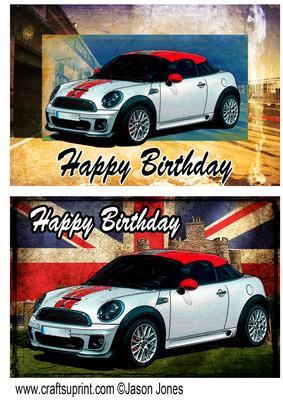 2 Quick Mini Coupe Card Fronts