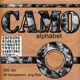 Grey Camouflage Army Alphabet