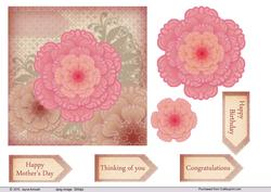 Vintage Pinks and Brown Floral Topper