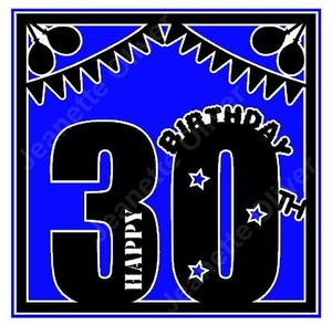 30th Birthday Card Topper Studio