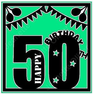 50th Birthday Card Topper SVG