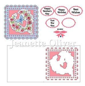 Floral Butterfly Topper & Aperture Card Studio Cutting File
