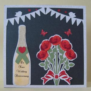 Champagne and Roses Topper - SVG Studio MTC - commercial
