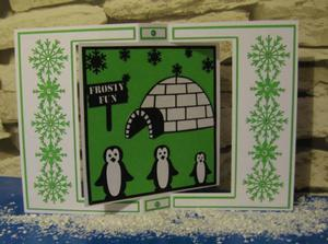 Family of 3 Penguin Cards & Frames Commercial Use