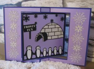 Family of 6 Penguin Cards & Frames Commercial Use