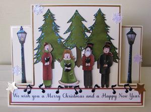 Carol Singers Centre Panel Card. Commercial Use