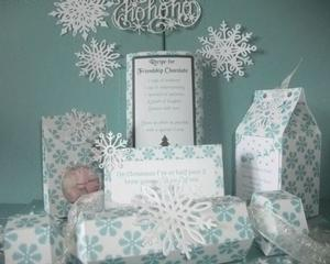 Blue Snowflakes Christmas Fair Kit Studio Commercial Use