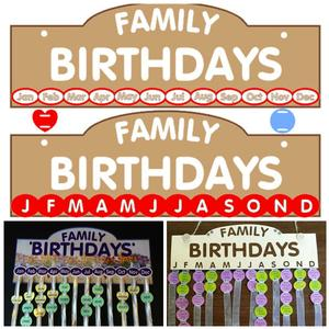 Birthday Calendar Studio SVG Fcm MTC Commercial Use