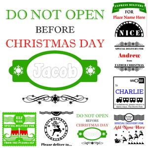Collection of Christmas Sack Toppers Studio SVG Commercial