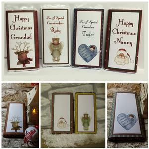 4 Blank Christmas Chocolate Wrappers - commercial Use