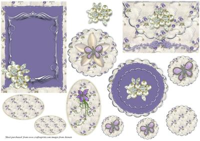 Shades of Lilac Floral Toppers