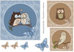 Wise Owls & Butterflies Toppers