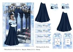 Blue Christmas Lady
