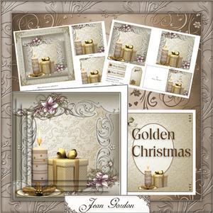 Golden Christmas Pyramage