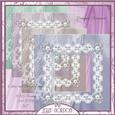 Lace and Flower Frames Cu